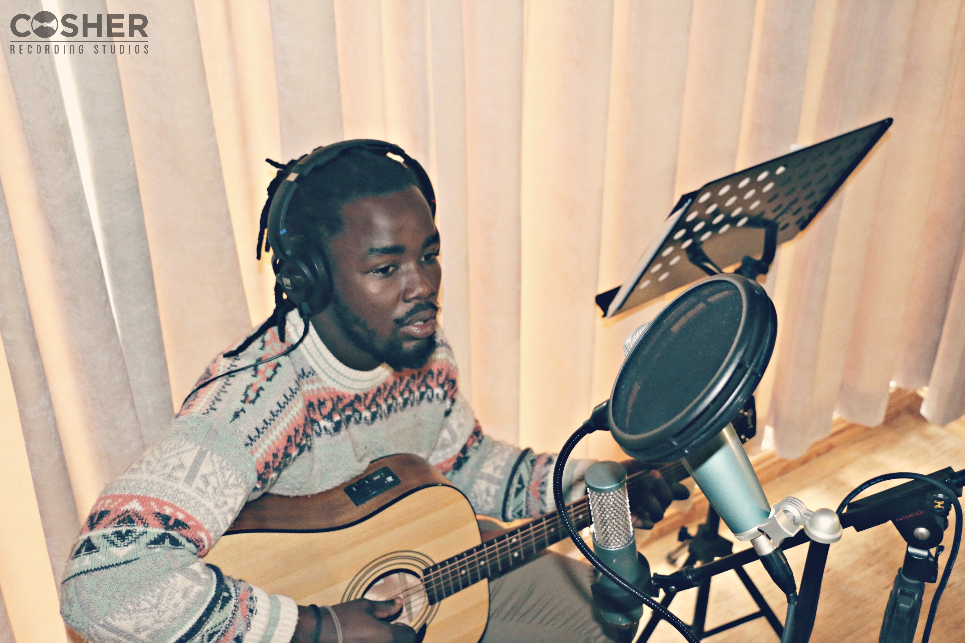Wandile Mbambeni at Cosher Recording Studios