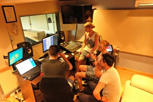 Brother and SEGA producing house music in the studio